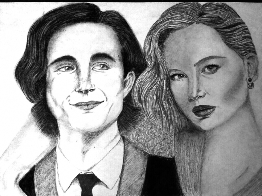 Timothée Chalamet, Jennifer Lawrence by mngha